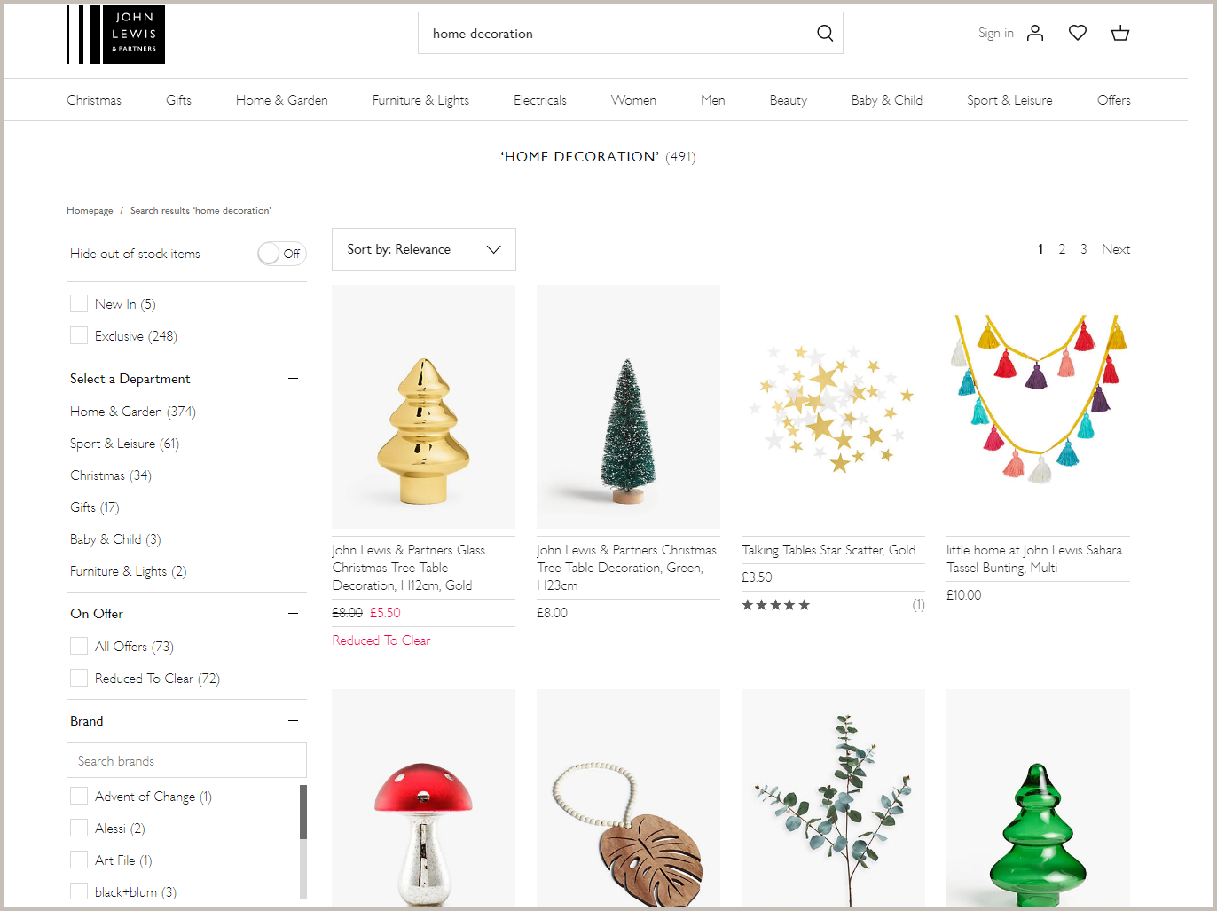 promote seasonal collections by digital merchandising